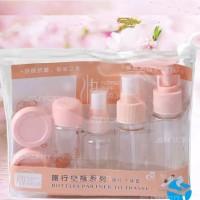 7 in 1 Travel Toiletries Kit Set Botol Kecil Berp