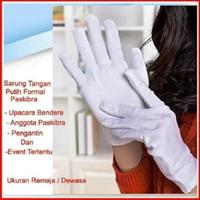 Sarung Tangan Kain Putih Bahan Lembut Ukuran M (anti virus bacteria)