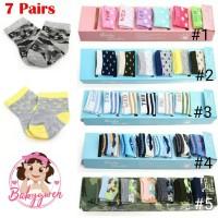 7 pasang kaos kaki bayi 0-1 tahun dengan kotak
