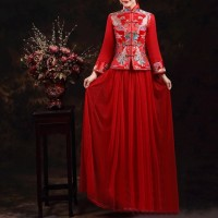 Baju SECOND (1x pakai) Cheongsam Wanita WEDDING DRESS import - Size XL
