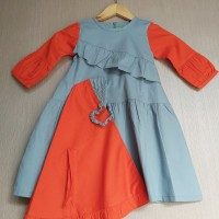 Baju Muslim Anak Baby Fayrany FGB-001Gamis Warna usia 9 - 12 Bulan