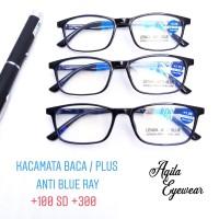 kacamata baca / plus anti blue ray (anti radiasi komputer )