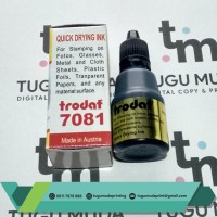Tinta Stempel Trodat 7081 25ml Permanent-Tahan Air|Plastik/Kain -BLACK