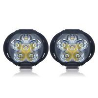Lampu Tembak Motor LED High Beam 1000 Lumens 2 PCS - Black