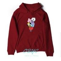 sweater hoodie wanita bt21 bts jaket perempuan 02