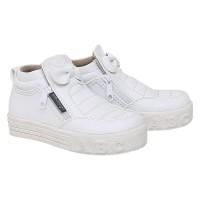 AEMCAZU C01TH - Sepatu Boots Putih Anak Perempuan / Bayi 1 2 3 4 Tahun