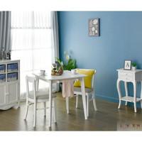 Meja Makan Minimalis Set Murah Nora 750 Livien Furniture Free Ongkir - Putih