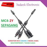 MC4-2Y Connector MC4 Cabang 2 (sepasang) 1000V Solar Panel Surya