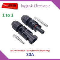 [30A] MC4 Connector Male Female (sepasang) 1000V Solar Panel Surya
