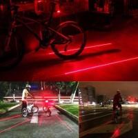 HOT SALE Laser Sepeda Strobo Tail light Lampu LED Kedip Laser Sepeda