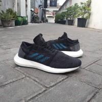 Sepatu Sneakers Adidas Pureboost GO Black Blue Original