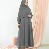 baju muslim wanita gamis Azura syari set khimar grosir promo syantik