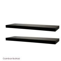 Pilihan! Set Rak Dinding Minimalis Gantung Isi 2 pcs Ukuran 60 cm -