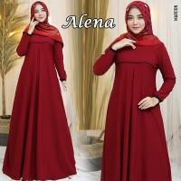Baju Gamis Syari Wanita Terbaru ALENA DRESS Original Fashion Ramadhan