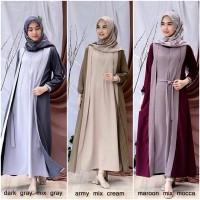 Baju Gamis Muslim WIRASHA Maxi dress 2 layer busui