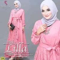 Gamis Brokat Baju Muslim Lilla Dress Maxi Best seller