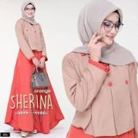 Baju Gamis Syari Wanita Terbaru SHERINA DRESS Berkualitas Termurah