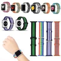 Strap Woven Nylon untuk Apple Watch 38mm / 42mm iWatch