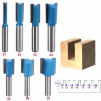 1 / 7Pcs Mata Bor Router Bit Straight Shank Straight Ukuran 6 / 8 /