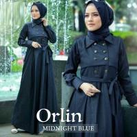 Busana muslim Orlin dress maxi Gamis wanita Gamis muslim