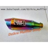 Promo Knalpot Yoshimura R11 rainbow single hole silencer only Limited