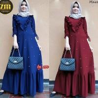Baju Gamis Muslim PARAMITA Maxi dress Mutiara