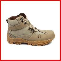 Speatu Pria Indicator Sepatu Boots Safety Zipper Dlta Ujung Besi Kerja