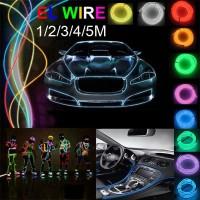 1 / 3 / 5M EL Wire Lampu LED Neon Strip untuk Dekorasi Pesta Taman