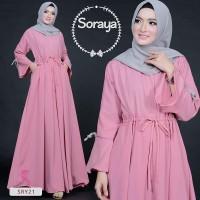 Baju Gamis SORAYA DRESS Baju muslim wanita Maxi dress muslim