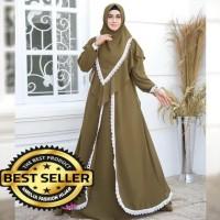 baju muslim wanita gamis Zavania syari set khimar new grosir