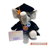 New !! boneka bandung - boneka wisuda - Gajah duduk 30cm