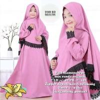 Gamis syari anak 1 set Busana muslim Baju anak