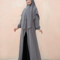 baju muslim wanita gamis Fatin syari set new grosir