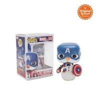 New !! Funko Pop Marvel Captain America Holiday - Cap Snowman