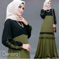Baju Gamis wanita Terbaru DENORA MAXI dress murah berkualitas