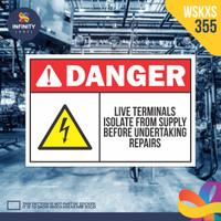 stiker rambu keselamatan label k3 safety sign sticker imo WSKXS-355
