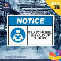stiker rambu keselamatan label k3 safety sign sticker imo WSKXS-386