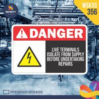 stiker rambu keselamatan label k3 safety sign sticker imo WSKXS-356