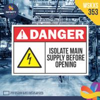 stiker rambu keselamatan label k3 safety sign sticker imo WSKXS-353