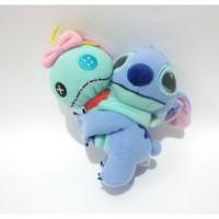 Boneka Stitch With Scrump Original Disney Sega Japan