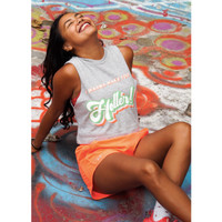 Kaus Olahraga Tank Perempuan: I wanna make you Holler - S-M