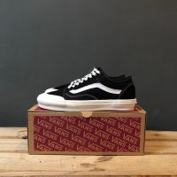 SEPATU PRIA VANS OLD SKOOL STYLE 36SF (SALT WASH)BLACK WHITE BIG SALE