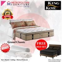 Springbed KING KOIL Grand Classic 180 x 200 FULL SET Kasur Spring bed