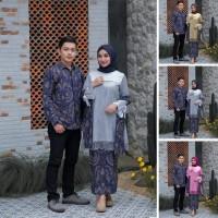 Baju Kebaya Gamis Batik COUPLE AZIZA Kemeja Lengan Panjang