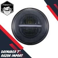 Daymaker 7 Inchi Razor Lampu LED Motor W175 Benelli XSR Harley Jeep