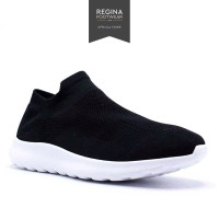 Faster Sports - Sepatu Sneakers Slip On Pria 1905-525 M Size 40-45 - Hitam, 42