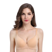 Bra Young Hearts Basic High Panel, Push-Up Y23-19997C - Light Brown