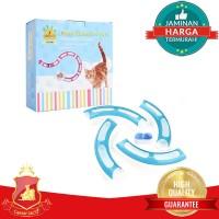 Mainan Interactive Kucing Anjing Hewan Pet Toy Track Ball Tunnel