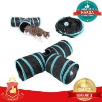 Pet Tunnel 3 Way Mainan Terowongan Kucing Anjing Puppy Premium