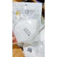 MASKER KESEHATAN / FACE MASK KN95 IMPORT ANTI CORONA HARGA PER PCS - Putih